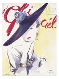L'Officiel, May 1939 - Agnès, Bijoux Boucheron アート :  Lbenigni
