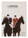 L'Officiel - Chapeaux d'Automne, Tissus d'Hiver Kunst von  Mourgue