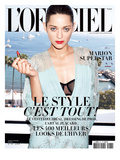 L'Officiel, August 2009 - Marion Cotillard Prints by Andrea Spotorno