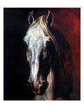 Gericault: White Horse Giclée-tryk af Théodore Géricault