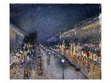 Pissarro: Paris at Night Giclee Print by Camille Pissarro
