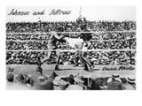 Johnson vs Jeffries, 1910 Giclee Print