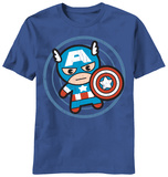 Marvel Kawaii - Cap in Circle (Slim Fit) Tシャツ
