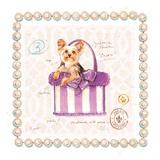Yorkie Puppy Purse Poster von Chad Barrett