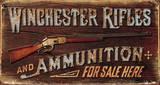 Winchester - Rifles & Ammo Placa de lata