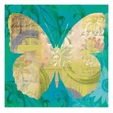 Blue Pop Butterfly Art by Walter Robertson