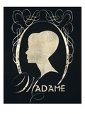 Madame Silhouette Kunstdruck von Lisa Vincent