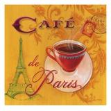 Paris Café Affischer av Angela Staehling
