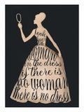 Script Dress Poster von Lisa Jones