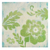 Green Floral Poster di Hope Smith