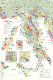 Italy Wine Map Poster Foto