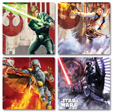 Star Wars 4pc Wood Coaster Set Coaster