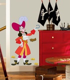 Jake & the Neverland Pirates Captain Hook Peel & Stick Giant Wall Decal Veggoverføringsbilde