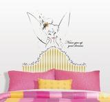 Disney Fairies - Tinkerbell Headboard Peel & Stick Giant Wall Decal Vinilo decorativo
