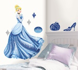 Disney Princess - Cinderella Glamour Peel & Stick Giant Wall Decal Autocollant mural
