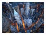 Vue aérienne de Wall street Affiche par Cameron Davidson