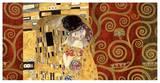 The Kiss (gold montage) Poster par Gustav Klimt