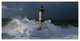 Phare d'Ar-Men lors d'une tempête Affiches par Jean Guichard