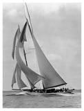 The Schooner Half Moon at Sail, 1910s Prints by Edwin Levick