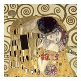 The Kiss (detail) Print by Gustav Klimt
