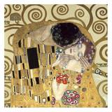 O Beijo, detalhe Arte por Gustav Klimt