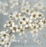 Silver Blossoms II Prints by Elise Remender