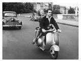 On Motorscooter Kunst