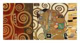 The Embrace (gold montage) Prints by Gustav Klimt