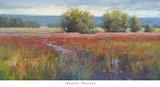 Flowing Thru Crimson Prints by Amanda Houston