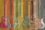 Guitar Heritage Kunstdrucke von Mj Lew