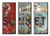 New Sunset Blvd Posters par Mj Lew