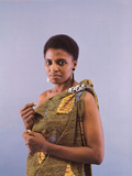 Miriam Makeba Displays Beautiful Garb Photographic Print by Moneta Sleet Jr.