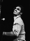 Stevie Wonder Performs in Concert Stretched Canvas Print by Norman Hunter