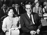 Cecelie and Thurgood Marshall Await Outcome at Senate Judiciary Committee Hearings, 1967 Photographic Print by Maurice Sorrell