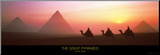 The Great Pyramids of Giza, Egypt Affiche montée sur bois par Shashin Koubou