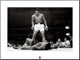 Muhammad Ali vs. Sonny Liston Mounted Print