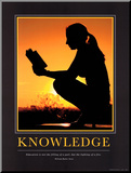 Knowledge Mounted Print