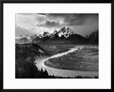 Tetons and The Snake River, Grand Teton National Park, c.1942 Art by Ansel Adams