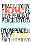 Peace, Love, Joy I Stampe di Deborah Velasquez
