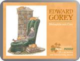 Gorey/Bibliophile With Cat 100 Piece Puzzle Quebra-cabeça