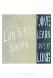Life's Too Short Kunst av Andrea James
