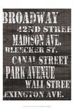 Streets of New York I Plakater av Andrea James