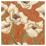 Persimmon Floral I Prints by Karen Deans