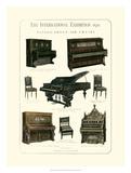 Pianos, Organ & Chairs 1876 Impressão giclée