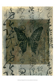 Butterfly Calligraphy III Print by Elena Ray