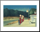 Gasolina, cerca de 1940 Impressão montada por Edward Hopper