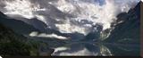 Norway Panorama Stretched Canvas Print by Maciej Duczynski