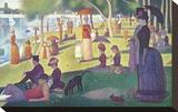 A Sunday on La Grande Jatte 1884, 1884-86 Toile tendue sur châssis par Georges Seurat