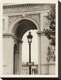 Lamp Inside Arc de Triomphe Opspændt lærredstryk af Christian Peacock
