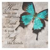 Blue Butterfly II Posters por Taylor Greene